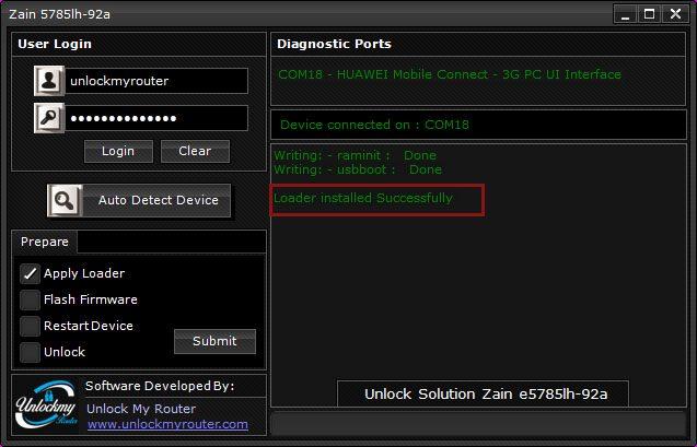 How to unlock Zain e5785lh-92a