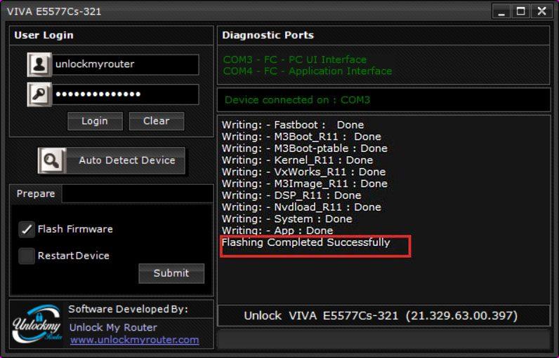 Unlock VIVA E5777Cs-321