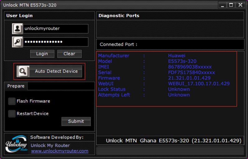 Unlock MTN Ghana E5573s-320