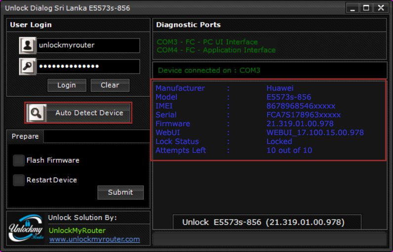 Unlock E5573s-856 Dhiraagu