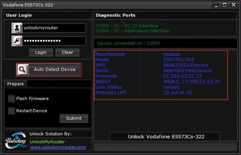 Vodafone E5573Cs-322