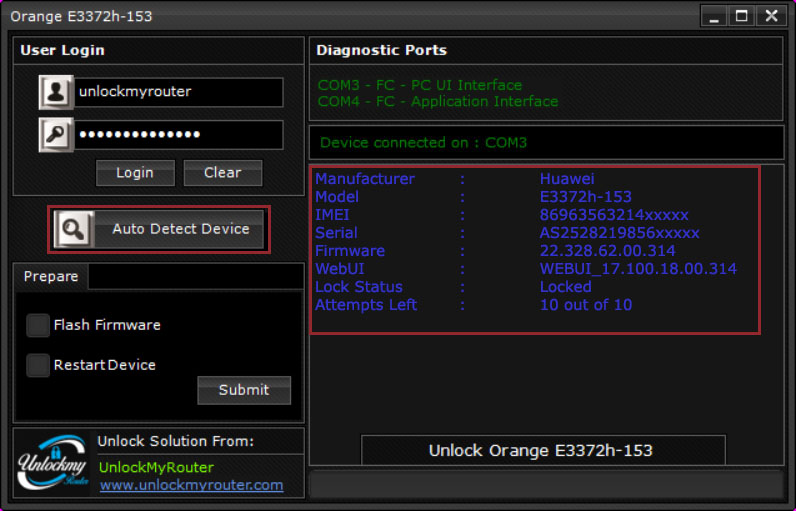 Orange E3372h-153