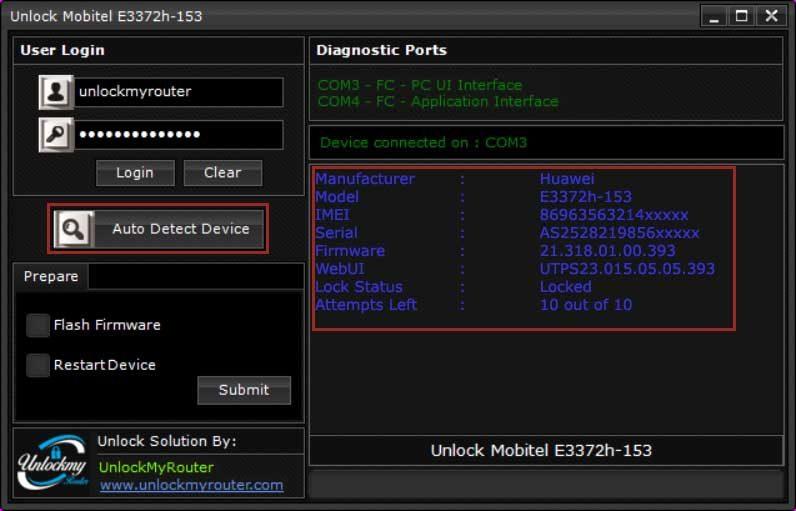 Mobitel E3372h-153